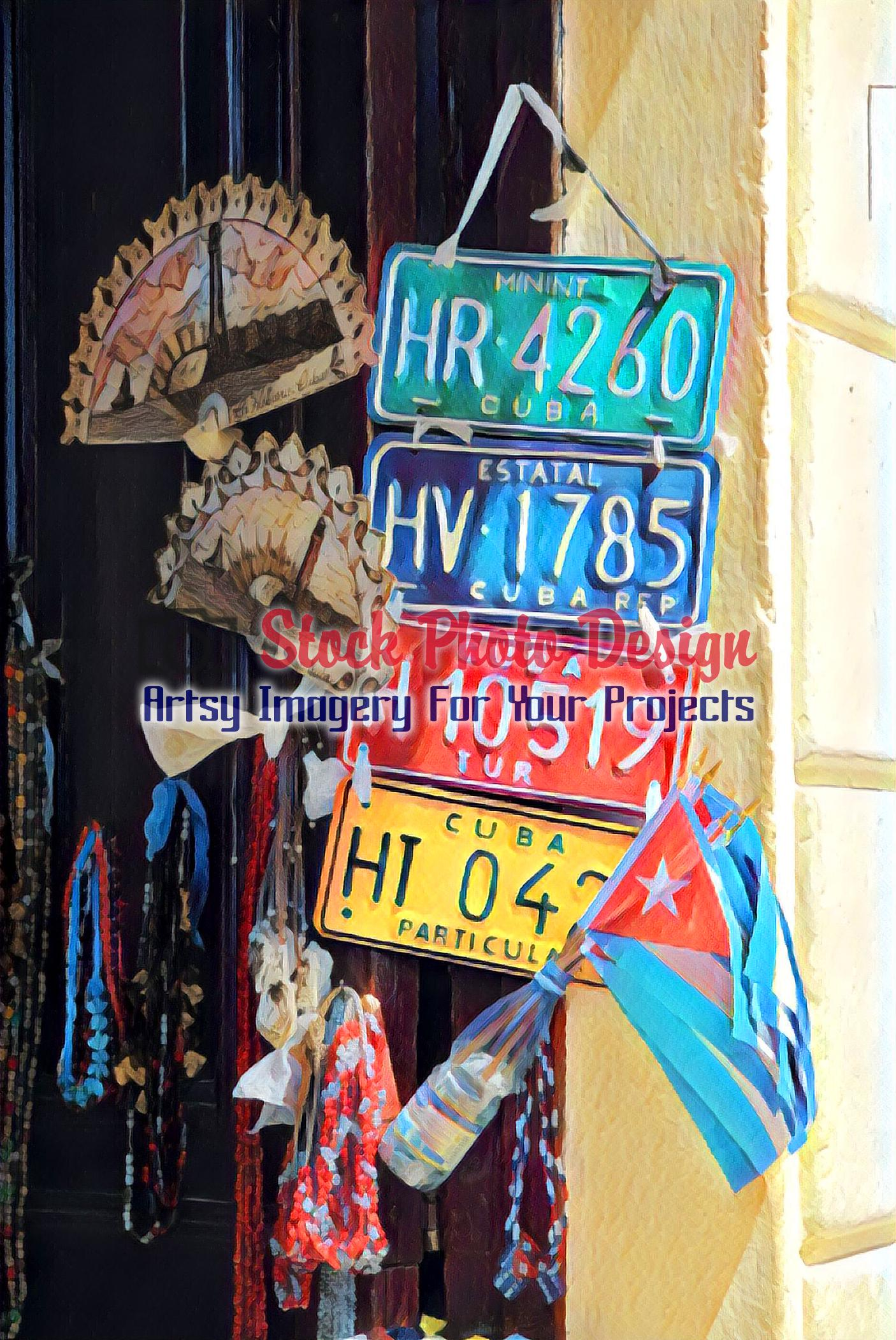 Cuban Car Plates 2 - Dimensions: 1406 by 2103 pixels