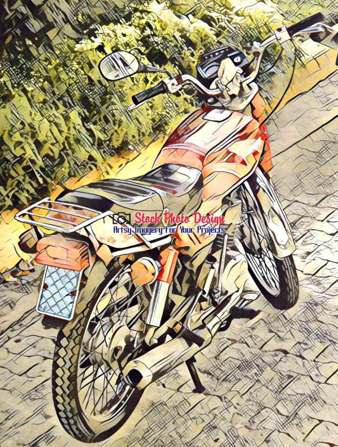 Vintage Cuban Motorcycle 2