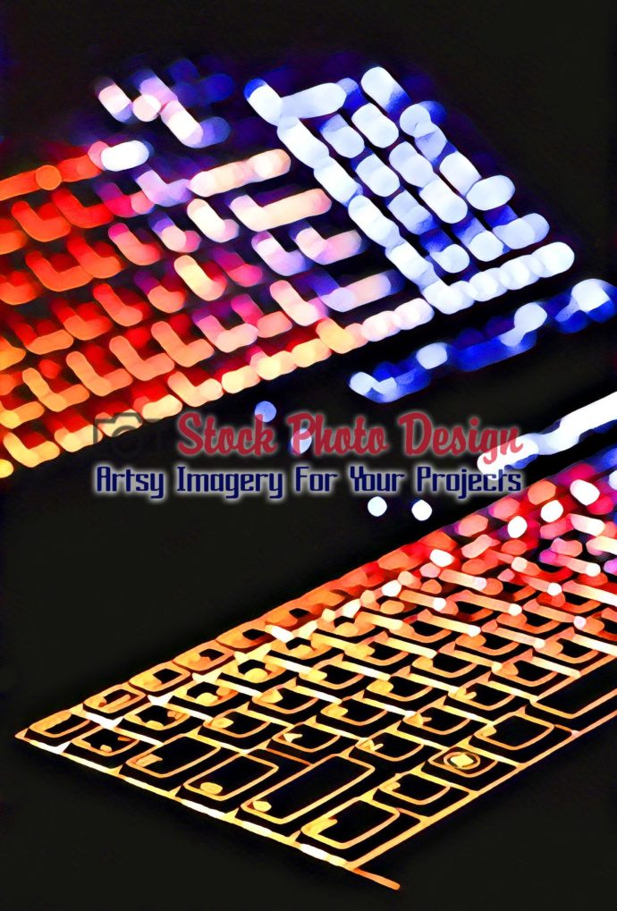 Colorful Illuminated Keyboard with Reflection 3