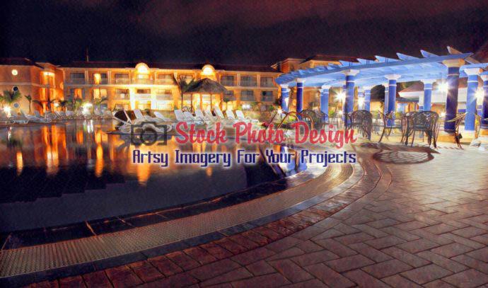 Tropical Resort Hotel at Night 17