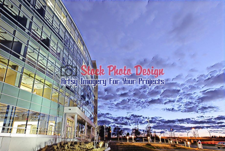 Modern Office Building at Sunset 2