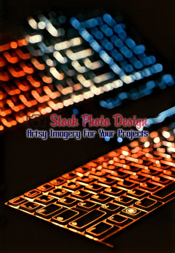 Colorful Illuminated Keyboard with Reflection 4
