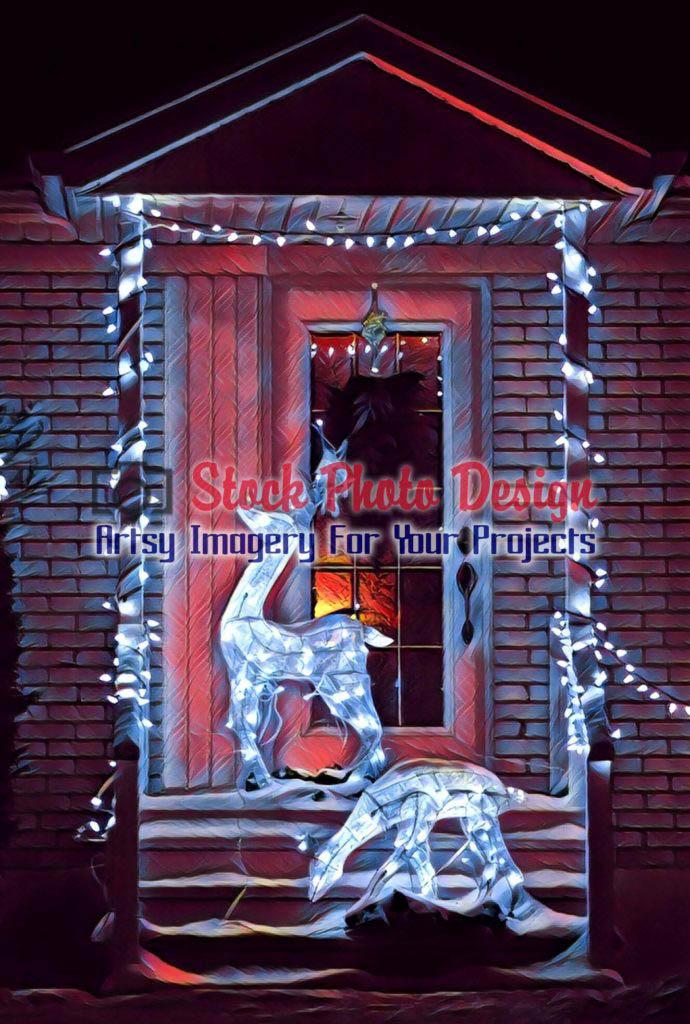 Home Entrance Christmas Decorations 4