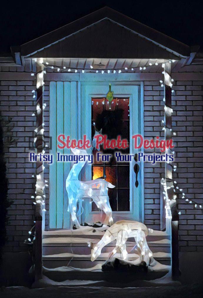 Home Entrance Christmas Decorations 5