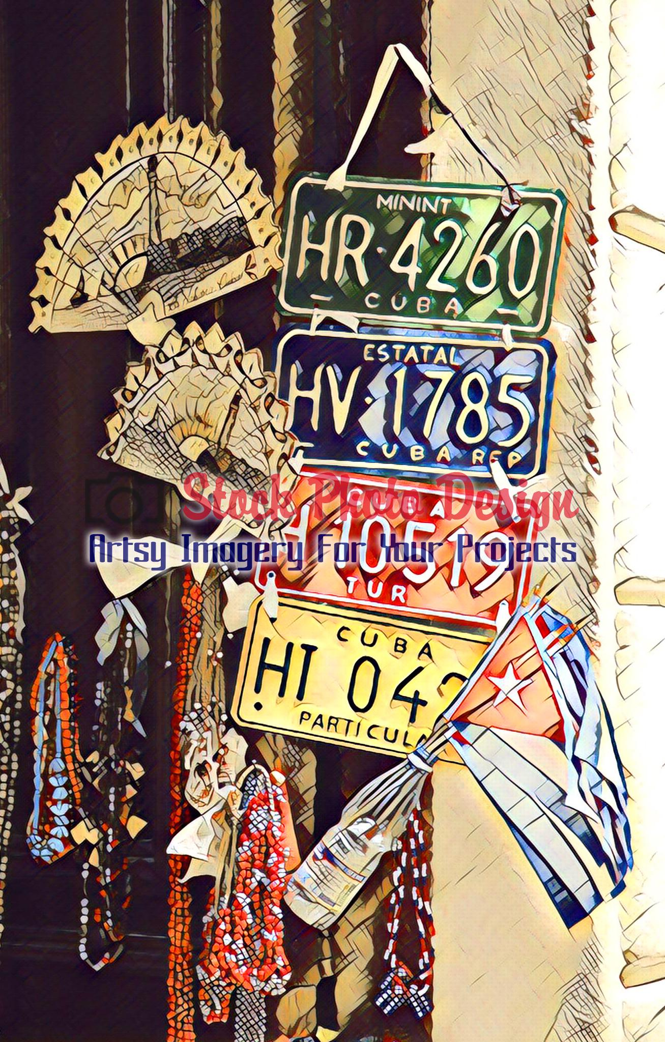 Cuban Car Plates 1 - Dimensions: 1307 by 2048 pixels