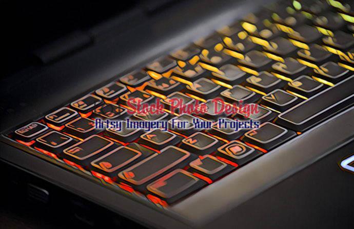 Colorful Illuminated Keyboard 2