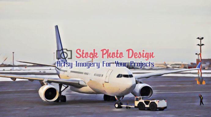 Passenger Plane at Airport 1