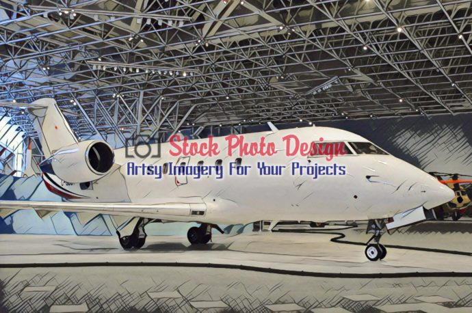 Private Airplane in Showroom 4