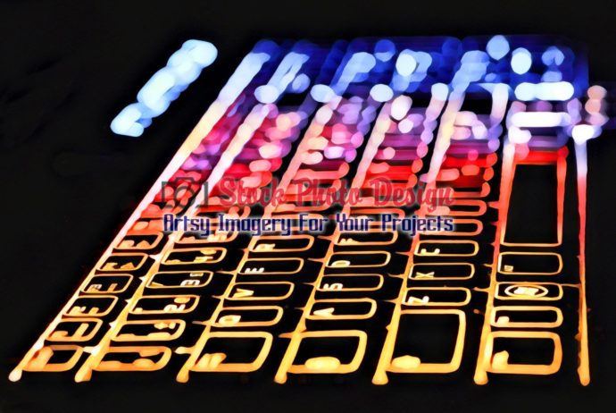 Colorful Illuminated Keyboard 8