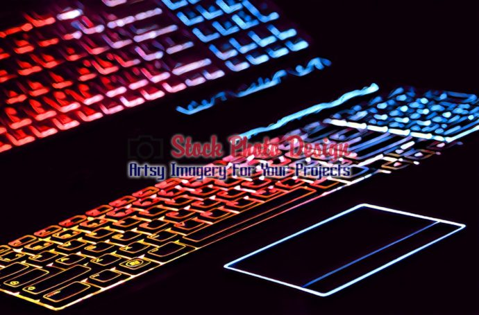Colorful Illuminated Keyboard with Reflection 5