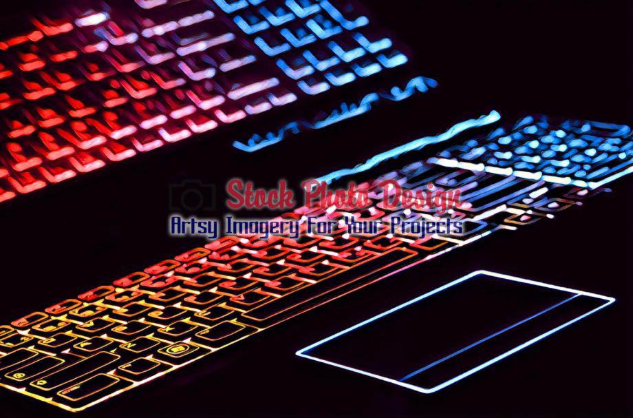 Colorful Illuminated Keyboard with Reflection 5