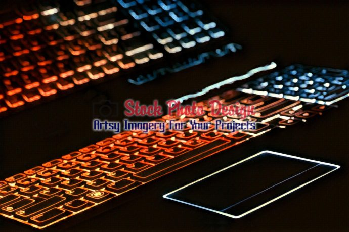 Colorful Illuminated Keyboard with Reflection 6
