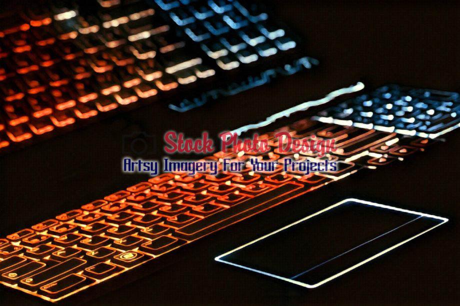 Colorful Illuminated Keyboard with Reflection 6