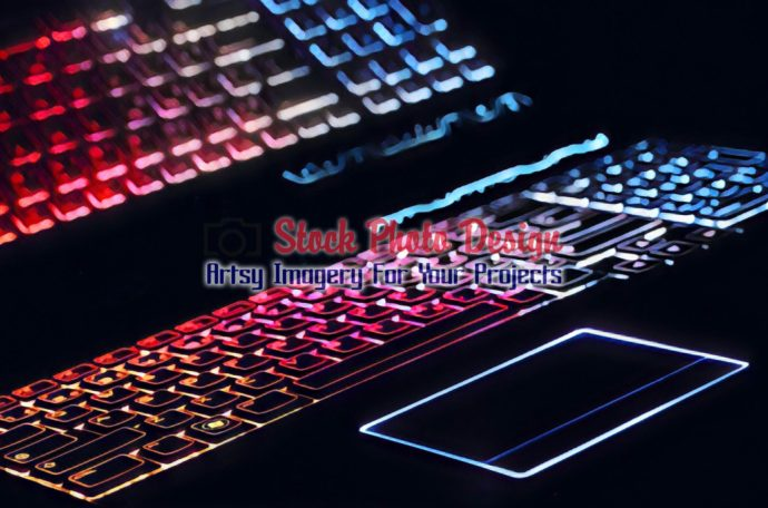 Colorful Illuminated Keyboard with Reflection7