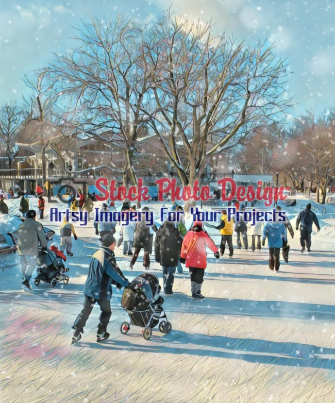 Skating Park with Snow 1