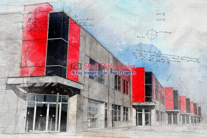 Modern Industrial District with Grunge Effect 2