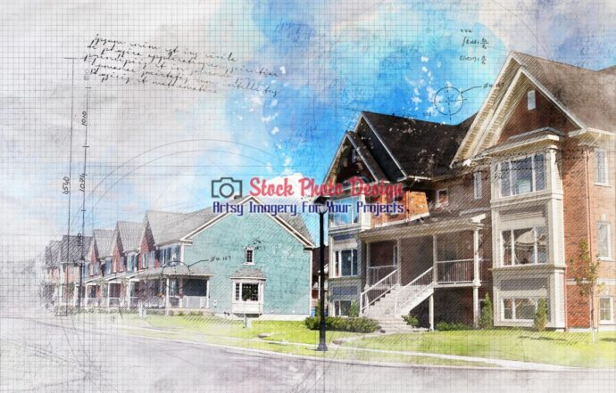 Condominium Area Grunge Sketch 1