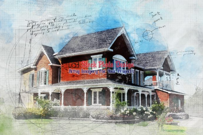 Sketchy Brick House Image 2