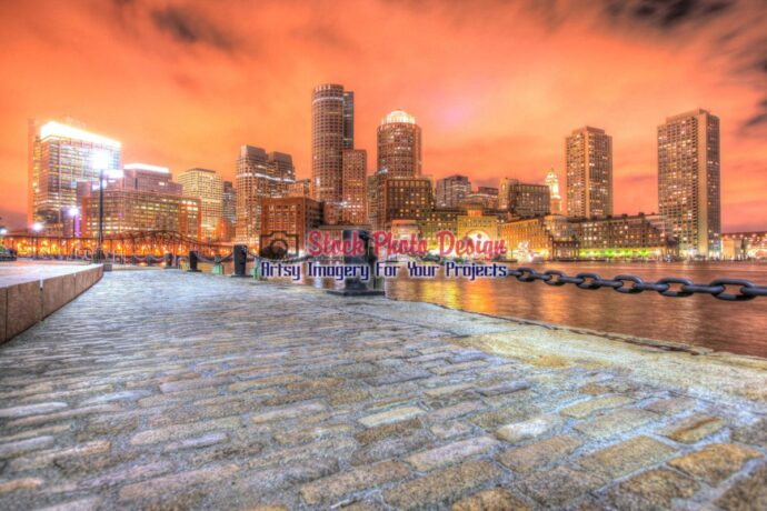 Beautiful Boston Cityscape at Night in HDR 2