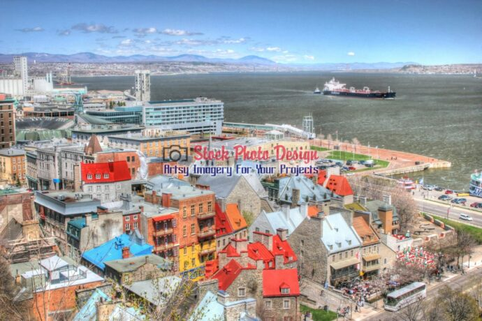 Boat in Old Quebec City in HDR