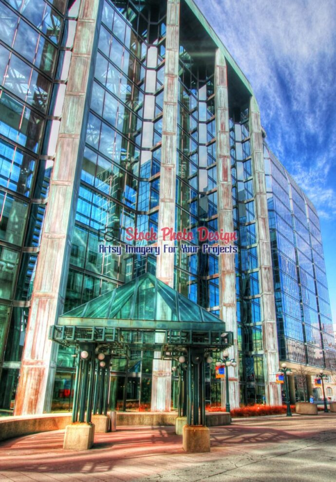 Glassy Building in HDR