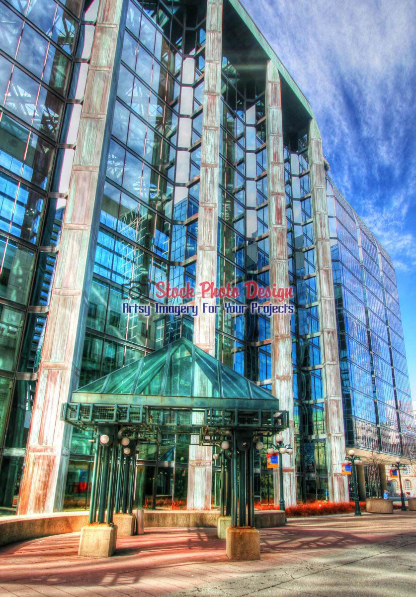 Glassy Building in HDR