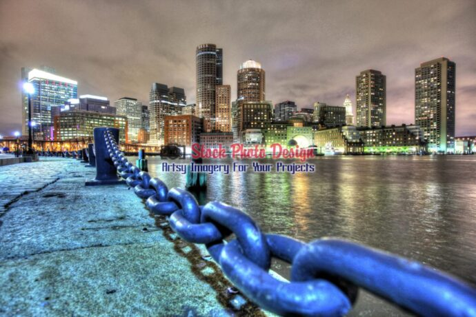 Boston City in HDR