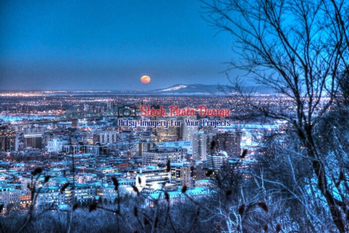 Montreal at Night in HDR