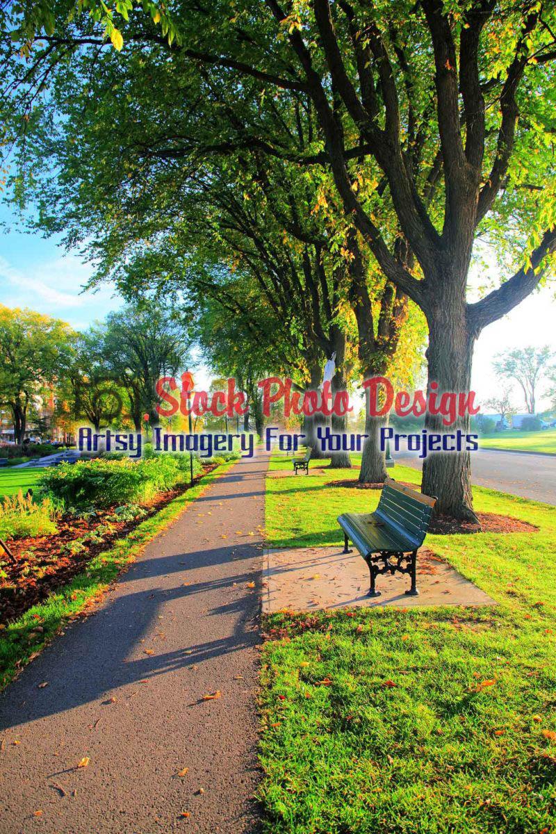 Quebec City Park Walkway in HDR