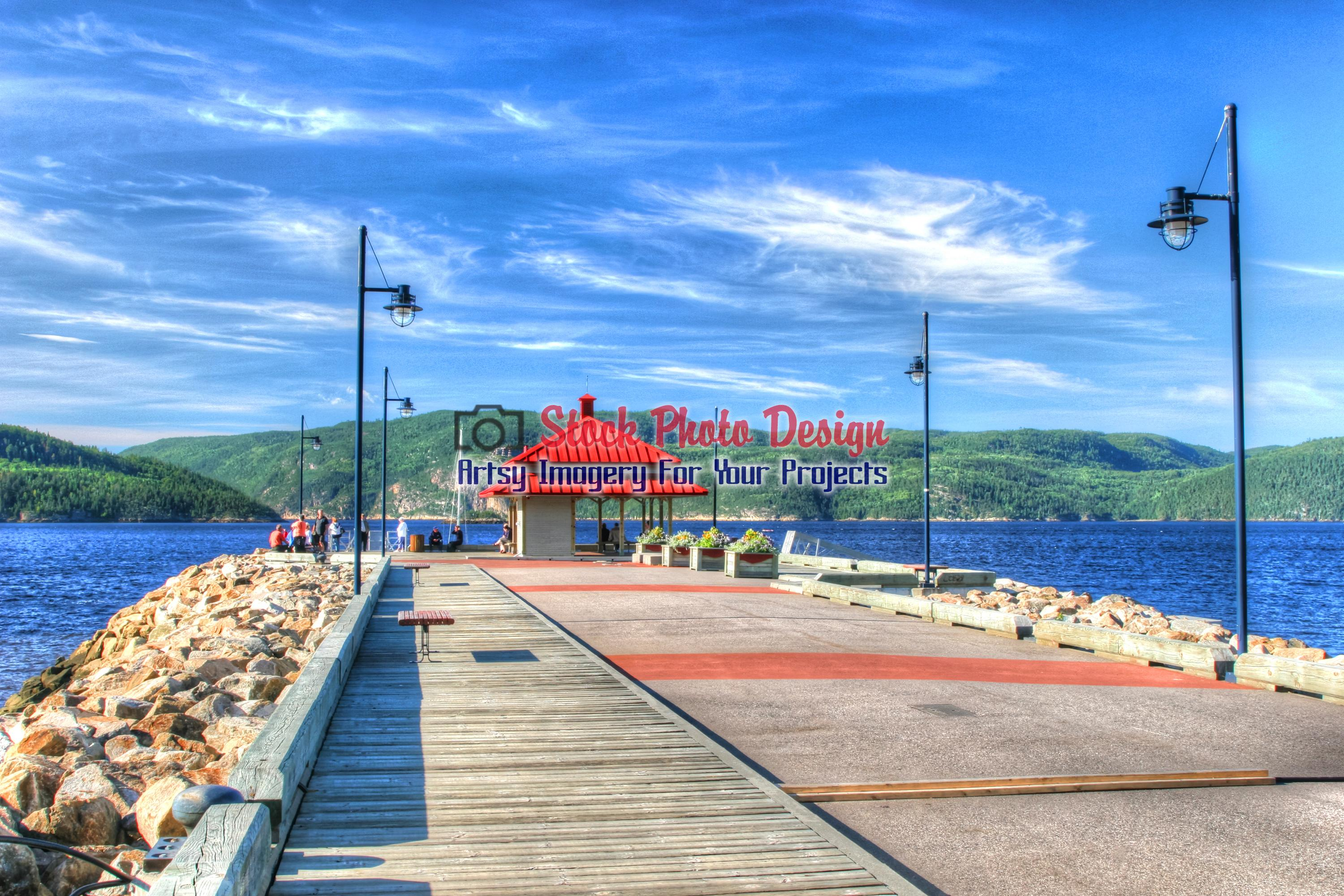 Saguenay Quay in HDR - Dimensions: 3000 by 2000 pixels