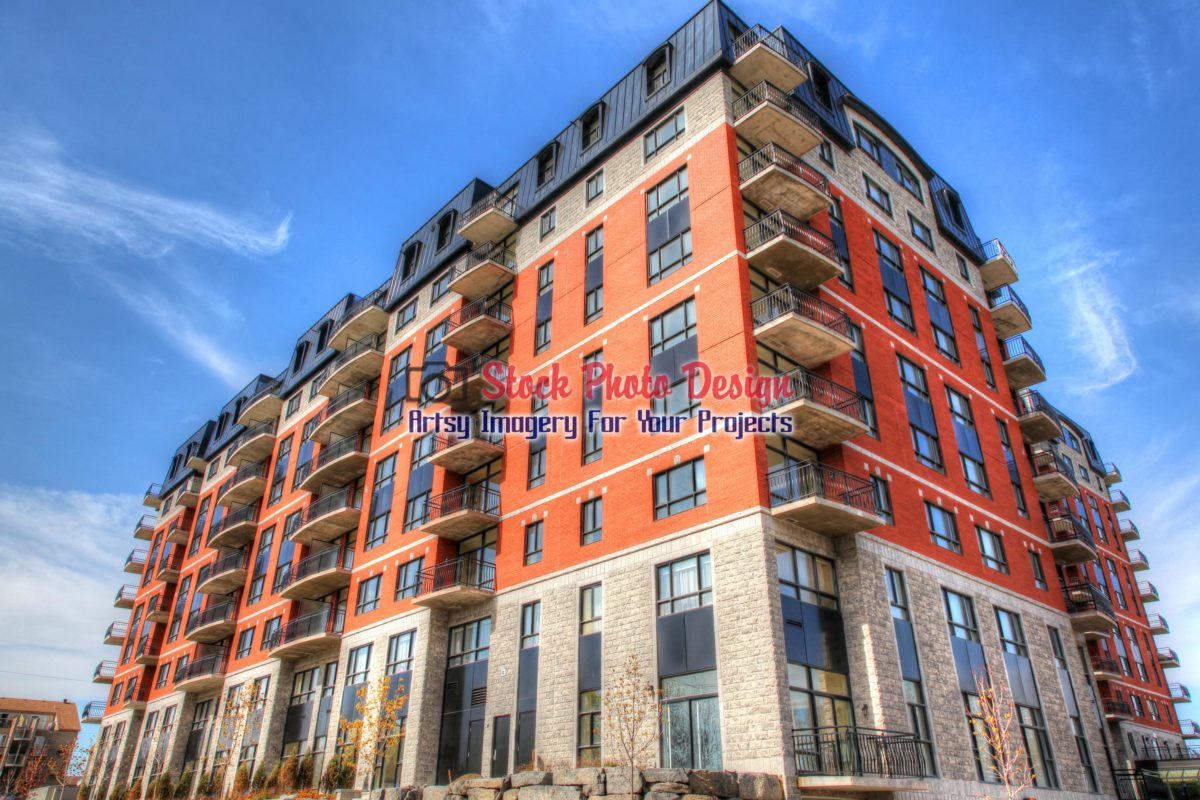 Modern Apartment Building in HDR - Stockphotodesign.com -