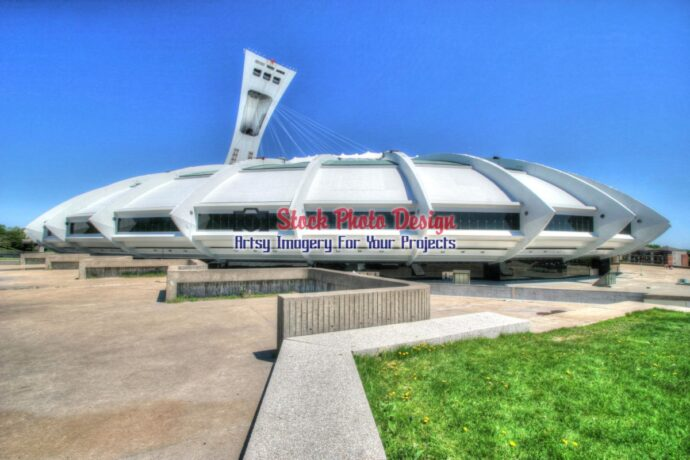 Montreal Oympic Stadium in HDR