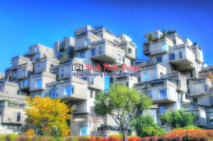Habitat 67 Buildings in HDR