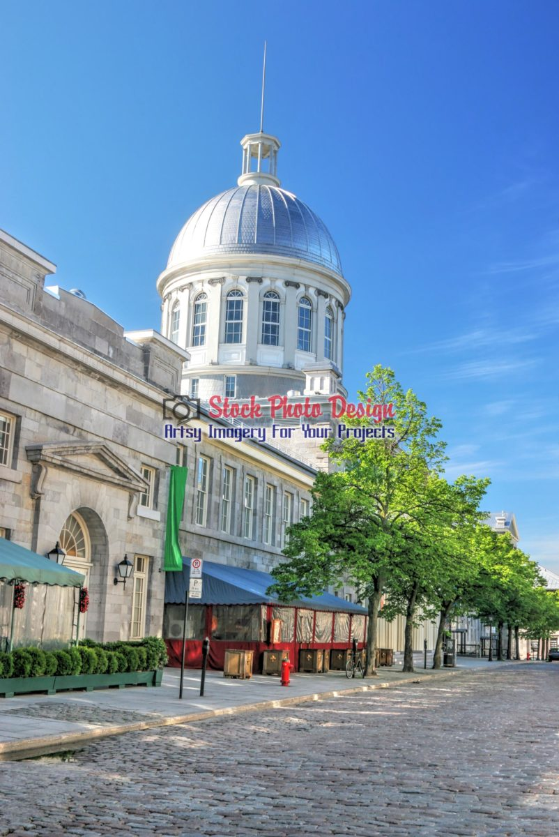 Montreal Bonsecour Market and Street in HDR