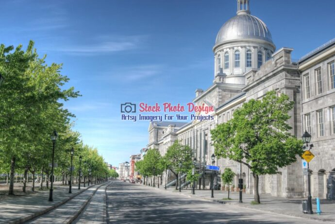 Montreal Bonsecour Market and Street in HDR 2