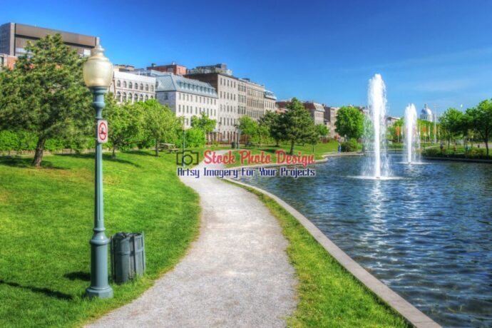 Old Montreal City Pond in HDR
