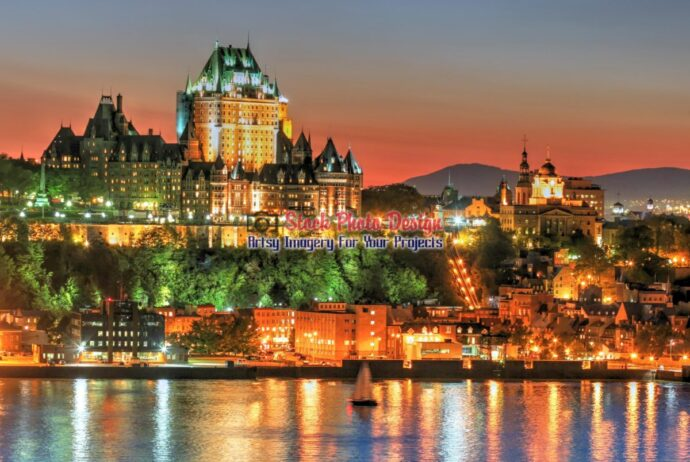 Chateau frontenac in Old Quebec City in HDR