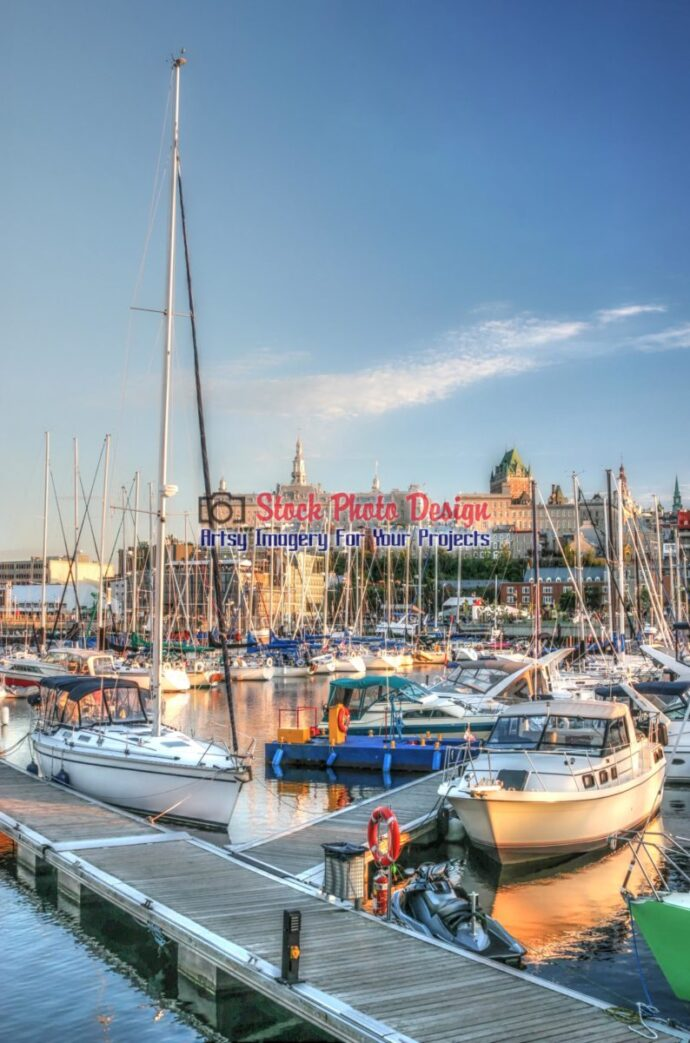 Old Quebec City Marina in HDR
