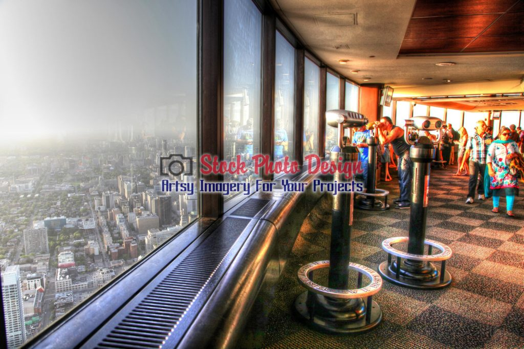 Toronto City CN Tower Interior in HDR