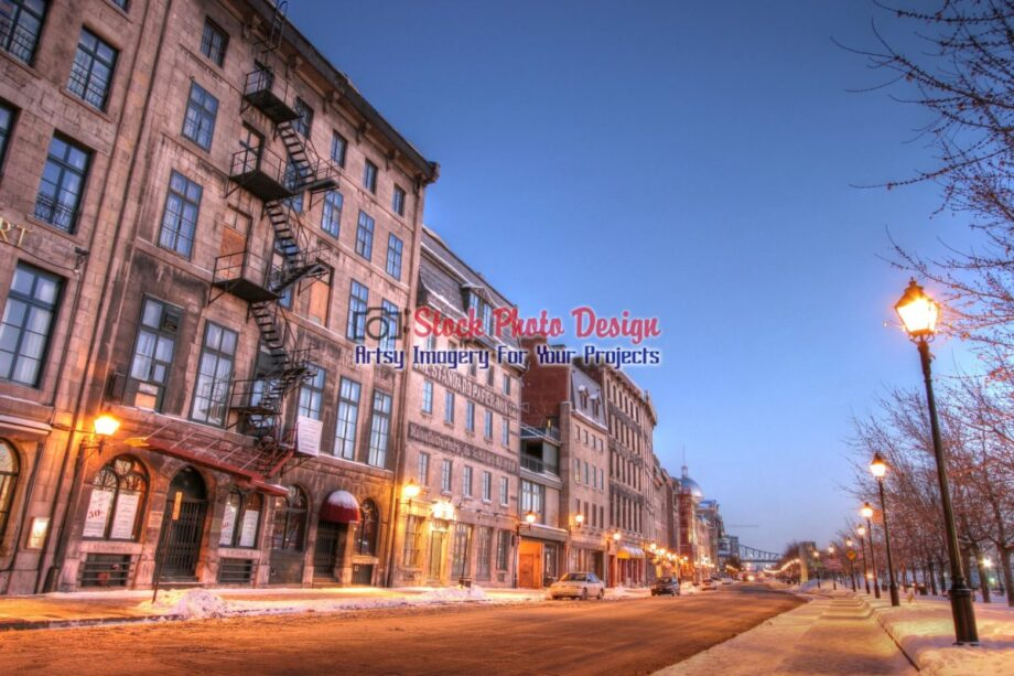 Old Montreal City Street in HDR