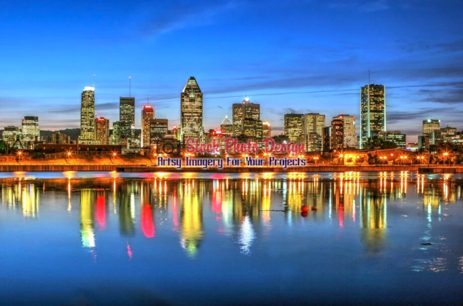 Montreal City at Night in HDR