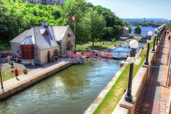 Ottawa Rideau Canal in HDR