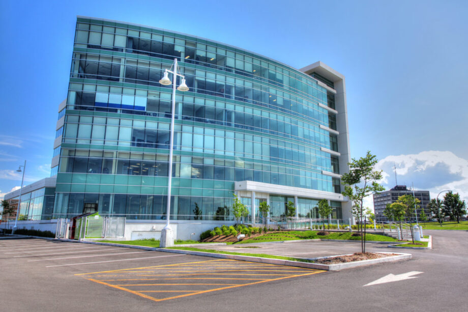Modern Office Building in HDR - Dimensions: 3100 by 2067 pixels