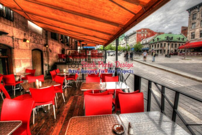 Old Montreal Bistro in HDR