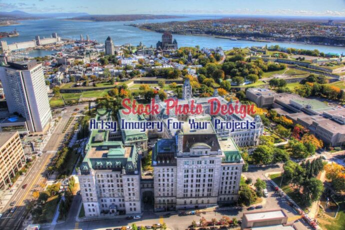 Quebec City Aerial HDR