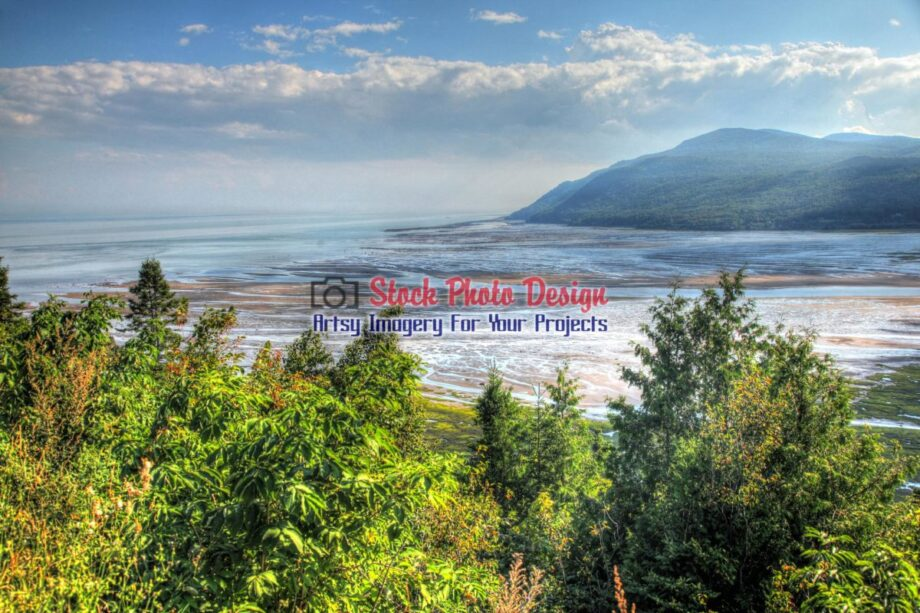 St-Lawrence River in Baie St-Paul in HDR