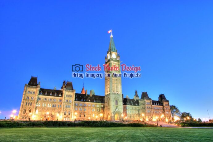 Ottawa Parliament at Night in HDR