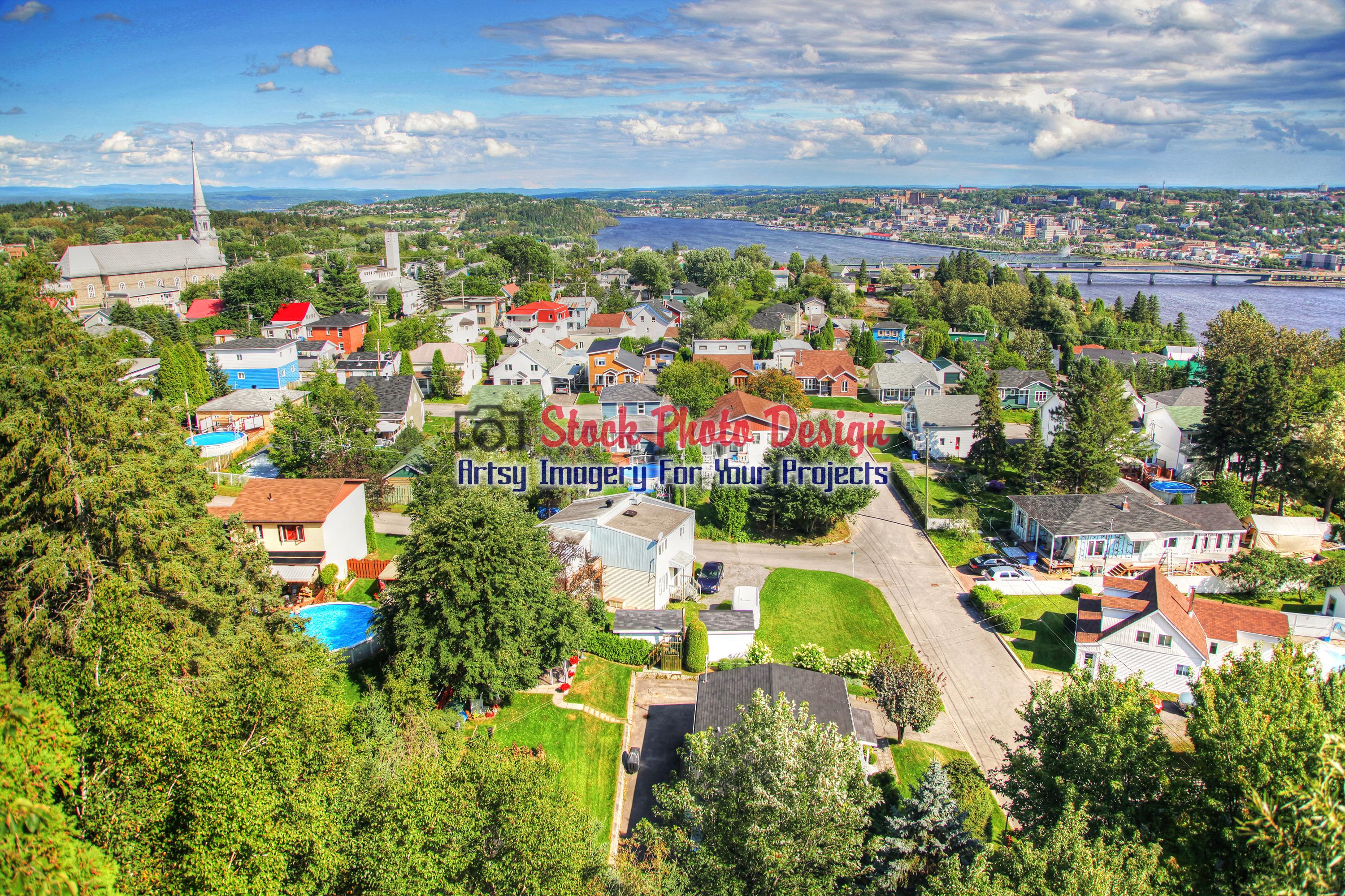 Saguenay City in HDR 2 - Dimensions: 3000 by 2000 pixels