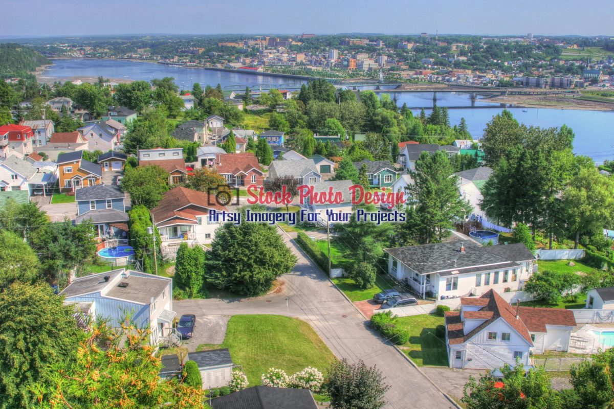 Saguenay City in HDR - Dimensions: 3000 by 2000 pixels