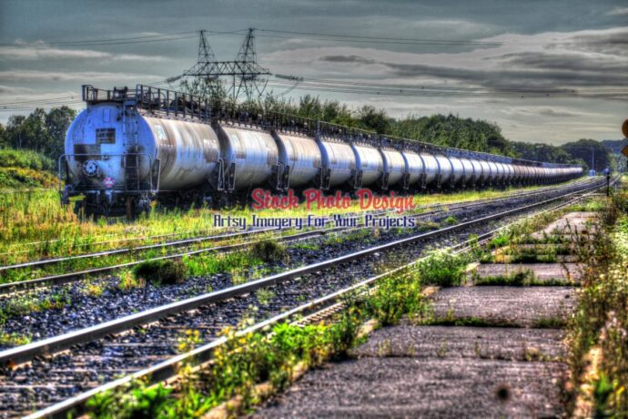 Train Tanker Wagons in HDR